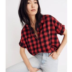 Madewell Flannel Courier Shirt in Buffalo Check